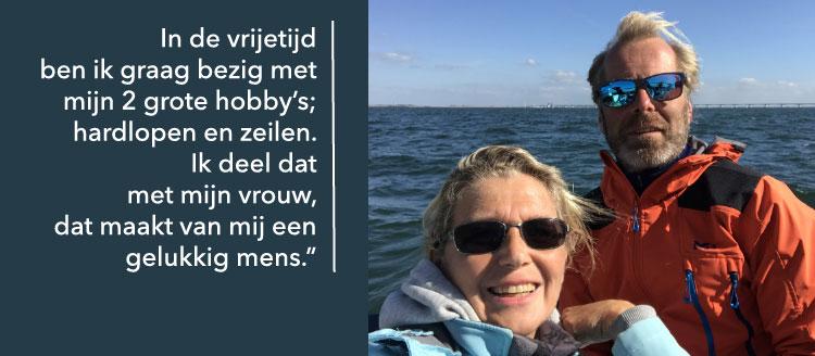 Pieter Elias, adviseur en eigenaar van Elias mobiliteit beoefent in zijn vrije tijd duurzame sporten en doet dat samen met zijn vrouw Karen. Dat maakt hem een gelukkig mens.